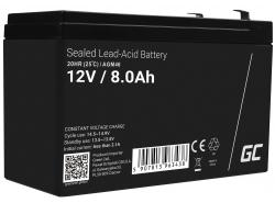 AGM Battery al piombo 12V 8Ah Ricaricabile Green Cell per UPS e sistemi di emergenza
