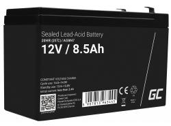 AGM Battery al piombo 12V 8.5Ah Ricaricabile Green Cell per inverter e monitoraggio