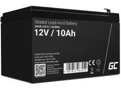 AGM Battery al piombo 12V 10Ah Ricaricabile Green Cell per fotovoltaico e ecoscandaglio