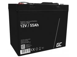 AGM Battery al piombo 12V 55Ah Ricaricabile Green Cell per barche e gommoni