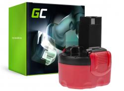 Batteria Green Cell (2Ah 9.6V) 2 607 335 453 2607335461 2 607 335 651 BAT049 per Bosch EXACT GDR GLI GSR PLI PSR 960 9.6V VE-2