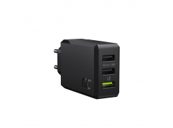 Caricabatterie Green Cell GC ChargeSource 3 3xUSB 30W con ricarica rapida Ultra Charge e Smart Charge