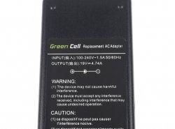 Green Cell ® Alimentatore / Caricatore per Portatile Acer 5730Z 5738ZG 7720G 7730 7730G