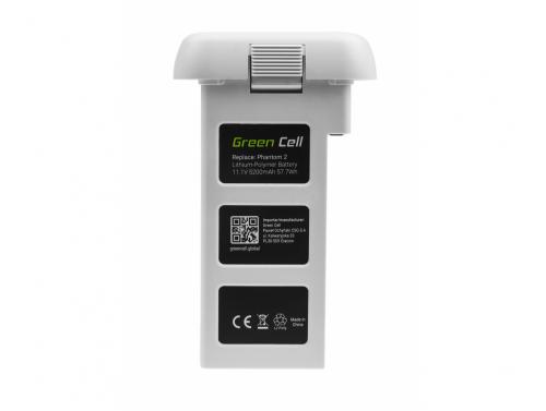 Batteria Green Cell per dron DJI PHANTOM 2, DJI PHANTOM VISION 2 5,2Ah 11.1V