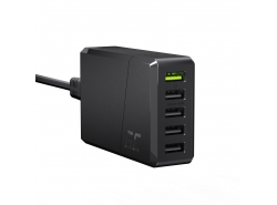 Green Cell GC ChargeSource 5 Caricabatterie 5xUSB 52W con ricarica rapida Ultra Charge e Smart Charge