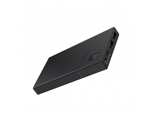 Power Bank Green Cell GC PowerPlay10 10000mAh con ricarica rapida 2x USB Ultra Charge e USB-C Potenza erogata 18W