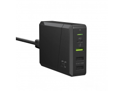 Green Cell Power Source 75W 4-Port Caricabatterie con USB-C PD per la ricarica di Ultrabook e tecnologia Ultra Charge
