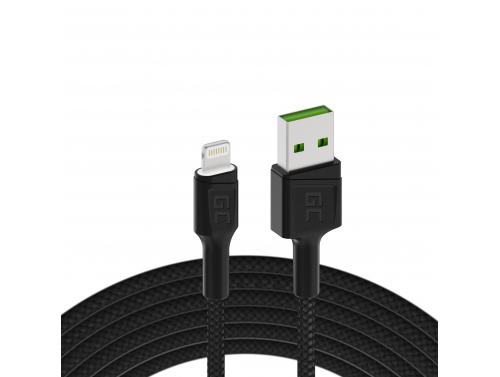 Green Cell GC Ray USB - Cavo Lightning 120 cm per iPhone, iPad, iPod, LED bianco, ricarica rapida