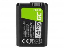 Green Cell ® Batteria FW50 per Sony Alpha A7, A7 II, A7R, A7R II, A7S, A7S II, A5000, A5100, A6000, A6300 7.4V 1050mAh
