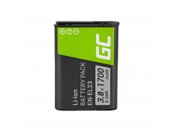 Green Cell ® Batteria EN-EL23 per Nikon Coolpix B700, P600, P610, P900, S810C 3.7V 1700mAh