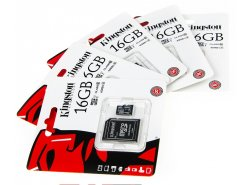 Scheda di memoria Kingston 16GB microSD + adattatore SD