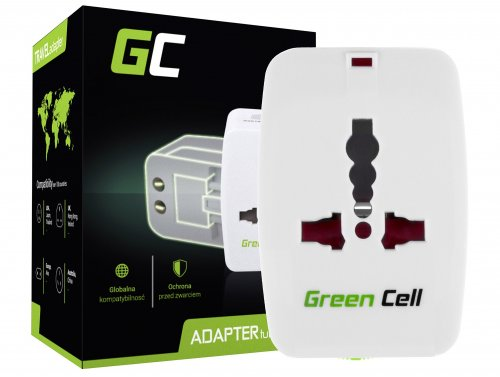 Adattatore universale da viaggio Green Cell ® per presa elettrica USA / UK / AUS / Cina