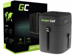 Green Cell ® Adattatore universale alla presa elettrica con porte USB