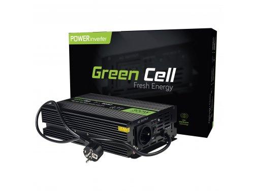 Green Cell® Convertitore di tensione Inverter DC 12V a AC 230V Onda Sinusoidale Pura 300W/600W UPS per stufe