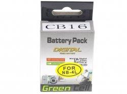 Green Cell ® Batteria per Fotocamera Canon Digital IXUS 70 75 175 Digital IXY 10 70 110 Powershot SD600 SD1000