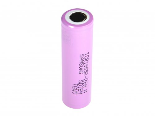 Batteria Li-Ion Samsung ICR18650-26H 2600mAh 3.7V
